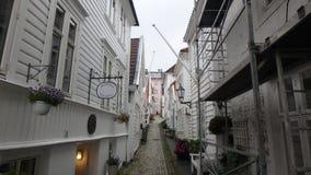 Sandviken, un petit bas-côté, n la Norvège photo stock