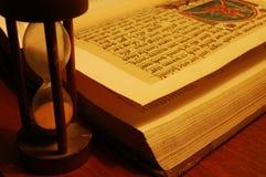 Sandwatch und das Buch Lizenzfreies Stockfoto