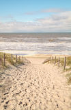 Sandweg zur Nordsee stockfotos