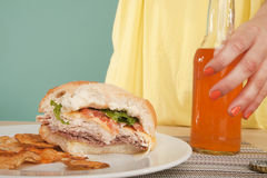 Sandwhich and Soda Stock Image