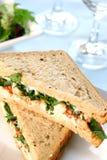 Sandwich à écrevisses et à crevette rose image stock