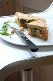 Sandwich à écrevisses et à fusée images stock