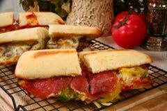 Sandwich à épicerie de pepperoni image libre de droits