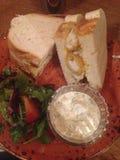 Sandwich à bâton de poisson Image libre de droits