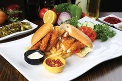 Sandwich à bâton de poisson photographie stock