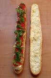 Sandwich à baguette Photo stock