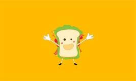 Sandwich à bande dessinée Image stock