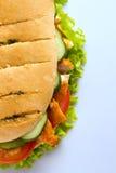 Sandwich à blanc de poulet à partir de dessus Image stock