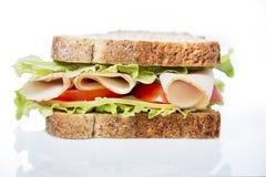 Sandwich à blanc de poulet Photos stock