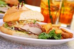 Sandwich à Bleu de cordon de poulet Images stock