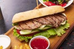 Sandwich à boeuf de rôti photos libres de droits