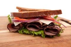 Sandwich à boeuf de rôti image libre de droits