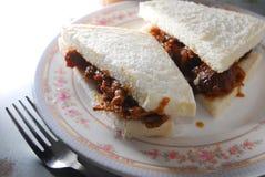 Sandwich à boeuf de Satay Images libres de droits