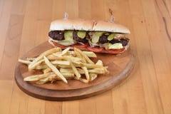 Sandwich à boulette de viande Images stock