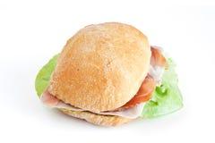 Sandwich à bourrage et à laitue photo stock