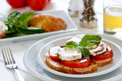 Sandwich à Caprese Photographie stock
