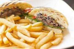 Sandwich à champignon de Portobello Photo libre de droits