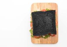 sandwich à charbon de bois de thon Photographie stock