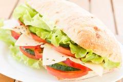 Sandwich à ciabatta avec du fromage Image libre de droits