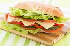 Sandwich à ciabatta avec du fromage Photo libre de droits