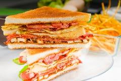 Sandwich à club Photos stock