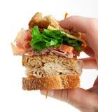 Sandwich à club d'épicerie Image stock