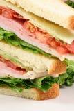Sandwich à club d'amoureux de nourriture de doigt image libre de droits