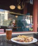Sandwich à club de beurre d'arachide Images stock