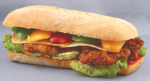 Sandwich à club de poulet Photos stock