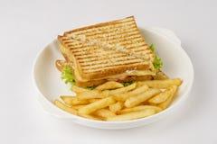 Sandwich à club savoureux photographie stock libre de droits