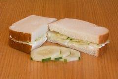 Sandwich à concombre Photo stock