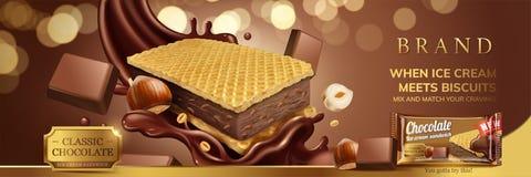 Sandwich à crème glacée de chocolat illustration libre de droits