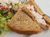 Sandwich à crevette rose Photos libres de droits