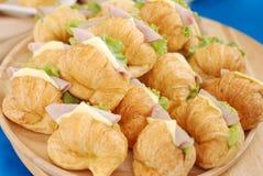 Sandwich à croissant Photographie stock