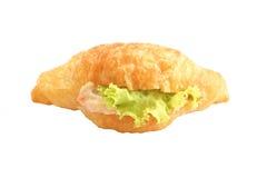 Sandwich à croissant de salade de thon Image stock