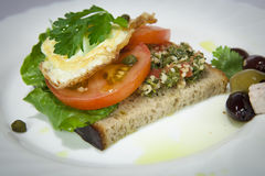 Sandwich à déjeuner photo libre de droits