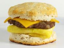 Sandwich à déjeuner de saucisse Photographie stock libre de droits