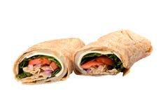 Sandwich à enveloppe de poulet image stock
