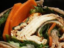 Sandwich à enveloppe de poulet photos stock