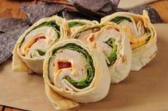 Sandwich à enveloppe de poulet Images libres de droits