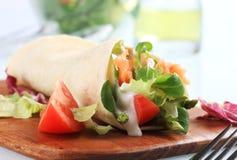 Sandwich à enveloppe de saumons photos libres de droits