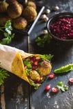 Sandwich à Falafels de Vegan photographie stock