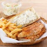 Sandwich à filet de poissons Photographie stock libre de droits