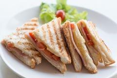 Sandwich à fromage de jambon Photographie stock