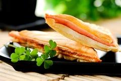 Sandwich à fromage de petit déjeuner Images libres de droits