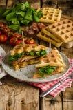 Sandwich à gaufres Photos stock