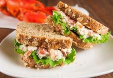 Sandwich à homard image stock