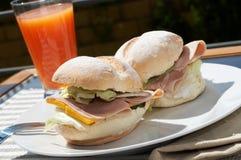 Sandwich à jambon et à fromage image libre de droits