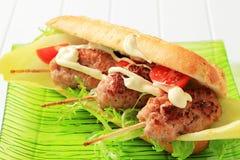 Sandwich à Kofta Images stock