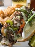 Sandwich à la viande de fromage de Philly Photographie stock